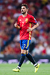 David Villa of Spain reacts during their 2018 FIFA World Cup Russia Final Qualification Round 1 Group G match between Spain and Italy on 02 September 2017, at Santiago Bernabeu Stadium, in Madrid, Spain. Photo by Diego Gonzalez / Power Sport Images