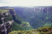 Fortaleza Canyon, Rio Grande do Sul, Brazil. Spectacular high view.