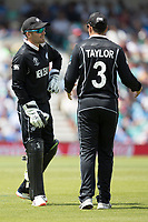 In conversation, Tom Blundell (New Zealand) and Ross Taylor (New Zealand) during India vs New Zealand, ICC World Cup Warm-Up Match Cricket at the Kia Oval on 25th May 2019