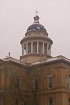 Historic Auburn Courthouse in the snow, Auburn, CA
