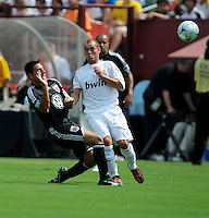 DC United midfielder Christian Gomez (10) versus Real Madrid midfielder Wesley Sneijder (10).  Real Madrid defeated DC United 3-0 at FedEx Field, Sunday August 9, 2009 in an International Friendly.