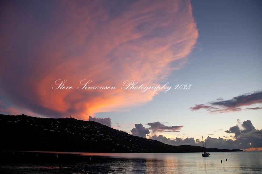Sunset at Magen's Bay.St. Thomas.US Virgin Islands