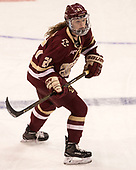 Bridget McCarthy (BC - 21) - The Boston College Eagles defeated the Boston University Terriers 3-2 in the first round of the Beanpot on Monday, January 31, 2017, at Matthews Arena in Boston, Massachusetts.
