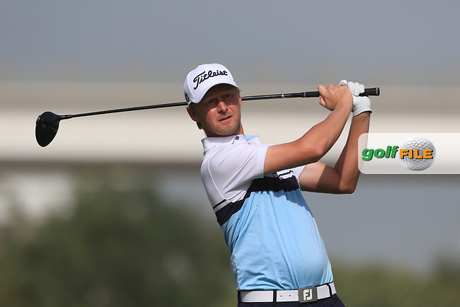 Justin Harding (RSA) on the 3rd during Round 3 of the Omega Dubai Desert Classic, Emirates Golf Club, Dubai,  United Arab Emirates. 26/01/2019<br /> Picture: Golffile | Thos Caffrey<br /> <br /> <br /> All photo usage must carry mandatory copyright credit (© Golffile | Thos Caffrey)