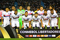 BARRANQUILLA - COLOMBIA ,25-04-2019: Formación del  San Lorenzo  de Argentina ante Atlético Junior  de Colombia durante partido por la fase de grupos (Vuelta) fecha 5 de la Copa CONMEBOL Libertadores 2019 jugado en el estadio Metropolitano Roberto Meléndez de la ciudad de Barranquilla . / Team of San Lorenzo of Argentina agaisnt of Atlético Junior  of Colombia during the group stage (comeback) date 5 of the Copa CONMEBOL Libertadores 2019 played at the Metropolitan Stadium Roberto Meléndez from the city of Barranquilla . Photo: VizzorImage / Alfonso Cervantes / Contribuidor.