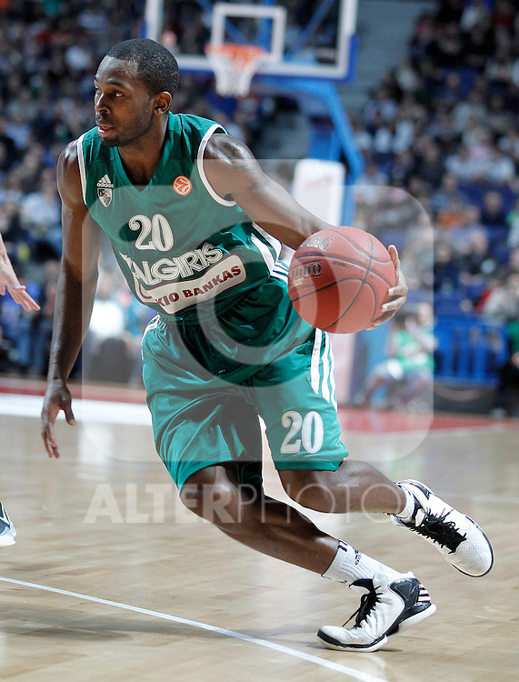 Zalgiris Kaunas' Oliver Lafayette during Euroleague 2012/2013 match.January 11,2013. (ALTERPHOTOS/Acero)