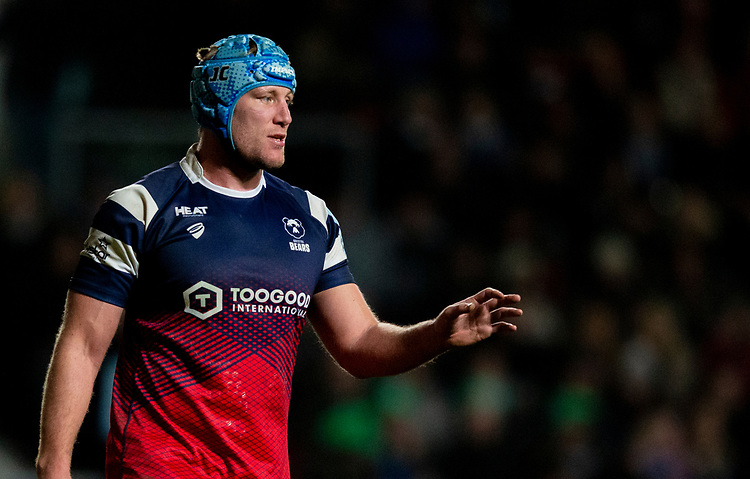 Bristol Bears' Jordan Crane<br /> <br /> Photographer Bob Bradford/CameraSport<br /> <br /> Gallagher Premiership - Bristol Bears v Gloucester Rugby - Friday 1st March 2019 - Ashton Gate - Bristol<br /> <br /> World Copyright © 2019 CameraSport. All rights reserved. 43 Linden Ave. Countesthorpe. Leicester. England. LE8 5PG - Tel: +44 (0) 116 277 4147 - admin@camerasport.com - www.camerasport.com