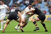Anthony Perenise of Bath Rugby takes on the Wasps defence. Aviva Premiership match, between Wasps and Bath Rugby on October 1, 2017 at the Ricoh Arena in Coventry, England. Photo by: Patrick Khachfe / Onside Images