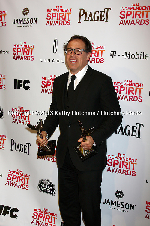 LOS ANGELES - FEB 23:  David O. Russell in the press room of the 2013 Film Independent Spirit Awards at the Tent on the Beach on February 23, 2013 in Santa Monica, CA