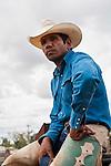 Portrait of an indigenous cowboy.  Mt Garnet Rodeo.  Mt Garnet, Queensland, Australia