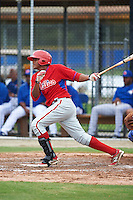 Philadelphia Phillies Bryan Martelo (40) during an instructional league game against the Toronto Blue Jays on September 28, 2015 at Englebert Complex in Dunedin, Florida.  (Mike Janes/Four Seam Images)
