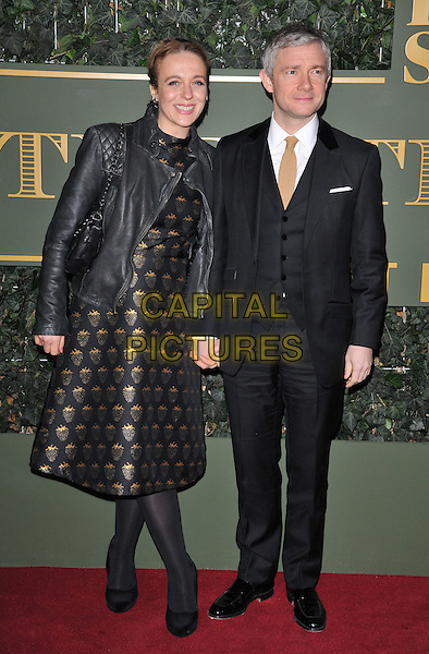 Amanda Abbington &amp; Martin Freeman attend the London Evening Standard Theatre Awards 2015, The Old Vic, The Cut, London, England, UK, on Sunday 22 November 2015.<br /> CAP/CAN<br /> &copy;CAN/Capital Pictures