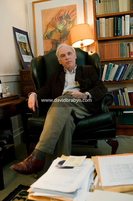 College President Nick Boyle poses in his office at Magdalene College in Cambridge, United Kingdom, 12 March 2007.