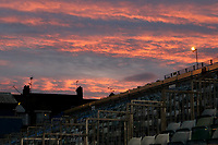 Sunset over the Brian Moore Stand at Gillingham FC during Gillingham vs Bury, Sky Bet EFL League 1 Football at the MEMS Priestfield Stadium on 11th November 2017