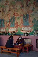 Buddhist fortunetellers at Dashchoilon Khiid Monastery