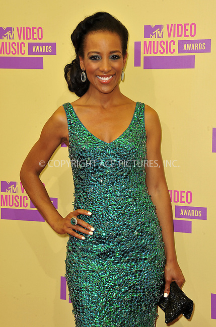 WWW.ACEPIXS.COM....September 6, 2012, Los Angeles, CA.....Shaun Robinson arriving at the 2012 MTV Video Awards at the Staples Center on September 6, 2012 in Los Angeles, California. ..........By Line: Peter West/ACE Pictures....ACE Pictures, Inc..Tel: 646 769 0430..Email: info@acepixs.com