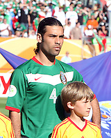 Mexican captain Rafa Marquez before the game. Mexico defeated Iran 3-1 during a World Cup Group D match at Franken-Stadion, Nuremberg, Germany on Sunday June 11, 2006.
