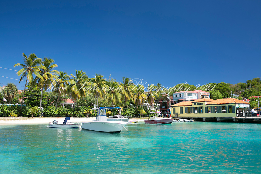 Cruz Bay and the ferry dock<br /> St. John<br /> US Virgin Islands