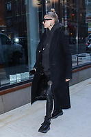 NEW YORK, NY - JANUARY 25: Hailey Rhode Baldwin seen arriving at Gigi Hadid's apartment on January 25, 2018 in New York City. Credit: DC/MediaPunch