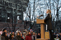 Representative Nikki Tsongas at Save Affordable Care Act rally with MA Congressional delegation at Faneuil Hall Boston MA 1.15.17