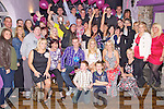Double Celebration - Andrew Kelly from Caherslee and Nicole Flynn from Castlegregory, seated centre having a ball with friends and family at thier joint 18th birthday bash held in The Greyhouind Bar on Saturday night.
