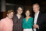 As The World Turns' Marnie Schulenburg poses with David Button & Jacob Dresch & Patrick Mulcahy (Producing Artistic Director) as she stars in rep (2 shows alternating dates) in both Henry V (tonight - opening night July 18, 2015) and The Foreigner from July 8 to August 2 at the Pennsylvania Shakespeare Festival at DeSales University in Center City, Pennsylvania.  (Photos by Sue Coflin/Max Photos)