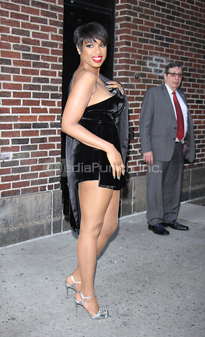 NEW YORK, NY - APRIL 17: Jennifer Hudson at The Late Show with Stephen Colbert in New York City on April 17, 2017. Credit: RW/MediaPunch