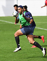 Ken Maumalo, <br /> Vodafone Warriors training session. Mt Smart Stadium, Auckland, New Zealand. NRL Rugby League. Tuesday 13 March 2018 &copy; Copyright photo: Andrew Cornaga / www.photosport.nz