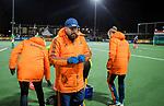 AMSTELVEEN - bondscoach Max Caldas (Ned) tijdens de hockeyinterland Nederland-Ierland (7-1) , naar aanloop van het WK hockey in India.  COPYRIGHT KOEN SUYK