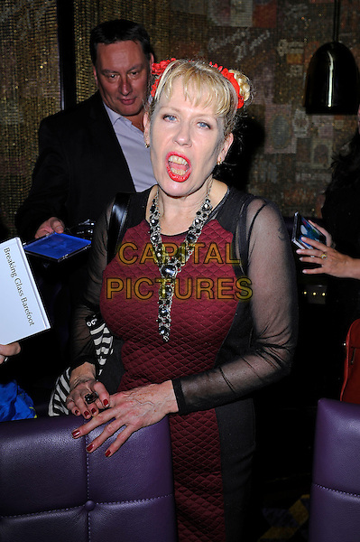 LONDON, ENGLAND - November 7: Hazel O'Connor meets fans at the Matcham Room, Hippodrome Casino on November 6, 2013 in London, England.<br /> CAP/MAR<br /> &copy; Martin Harris/Capital Pictures