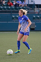 Rochester, NY - Friday May 27, 2016: Boston Breakers defender Kassey Kallman (5). The Western New York Flash defeated the Boston Breakers 4-0 during a regular season National Women's Soccer League (NWSL) match at Rochester Rhinos Stadium.