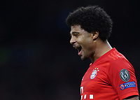 Bayern Munich's Serge Gnabry celebrates after scoring his side's fourth goal <br /> <br /> Photographer Rob Newell/CameraSport<br /> <br /> UEFA Champions League Group B  - Tottenham Hotspur v Bayern Munich - Tuesday 1st October 2019 - White Hart Lane - London<br />  <br /> World Copyright © 2018 CameraSport. All rights reserved. 43 Linden Ave. Countesthorpe. Leicester. England. LE8 5PG - Tel: +44 (0) 116 277 4147 - admin@camerasport.com - www.camerasport.com