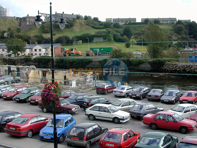 The site where the new Dyer Street bridge will run..Picture Paul Mohan Newsfile