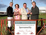 Ruby Walsh with Martin and Patricia McGowan of Scholars Townhouse and Charles Byrnes at the Bellewstown Races...Photo NEWSFILE/Jenny Matthews.(Photo credit should read Jenny Matthews/NEWSFILE)....This Picture has been sent you under the condtions enclosed by:.Newsfile Ltd..The Studio,.Millmount Abbey,.Drogheda,.Co Meath..Ireland..Tel: +353(0)41-9871240.Fax: +353(0)41-9871260.GSM: +353(0)86-2500958.email: pictures@newsfile.ie.www.newsfile.ie.FTP: 193.120.102.198.