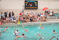 The Occidental College men's water polo team plays against Claremont-Mudd-Scripps in Taylor Pool on Oct. 25, 2014. (Photo by Marc Campos, Occidental College Photographer)