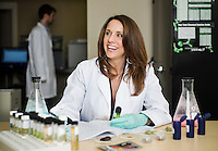 Owner and founder of Cannlabs Genifer Murray (cq) in her lab in Denver, Colorado, Thursday, February 21, 2013. Cannlabs tests potency and clarity of cannabis products...Photo by Matt Nager