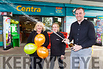 Ciaran Culloty with  Anne Enright left and Stacey Barrett celebrate selling the €500,000 Euro millions lotto ticket on Wednesday