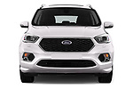 Car photography straight front view of a 2017 Ford Kuga Vignale 5 Door SUV