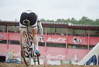 Marianne Vos (NLD) into the abyss<br /> <br /> UCI Worldcup Heusden-Zolder Limburg 2013