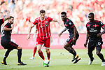 Bayern Munich Forward Robert Lewandowski (C) in action during the 2017 International Champions Cup China  match between FC Bayern and AC Milan at Universiade Sports Centre Stadium on July 22, 2017 in Shenzhen, China. Photo by Marcio Rodrigo Machado / Power Sport Images