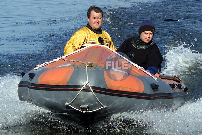 David Mulroy and Sean Flannagan of Dundalk Bay Inshore Rescue..Picture Paul Mohan Newsfile