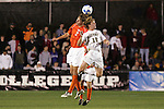 14 December 2007: Virginia Tech's Alexander Baden (GER) (2) and Wake Forest's Zack Schilawski (12). The Wake Forest University Demon Deacons defeated the Virginia Tech University Hokies 2-0 at SAS Stadium in Cary, North Carolina in a NCAA Division I Men's College Cup semifinal game.