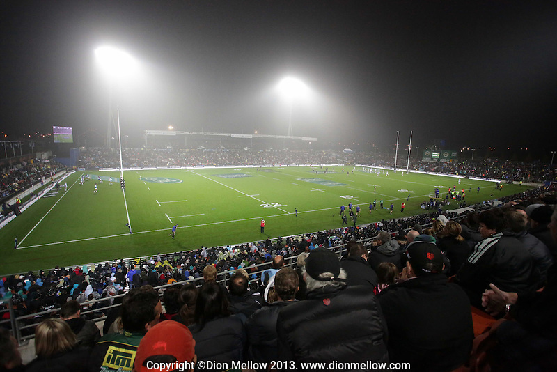 General view of Waikato Stadium during the 2013 Rugby Championship - All Blacks v Argentina at Waikato Stadium, Hamilton, New Zealand on Saturday, 7th September   2013. Copyright Dion Mellow Photography. Credit DMP / Dion Mellow