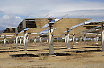 Heliostats at the solar energy scientific research centre, Tabernas, Almeria, Spain