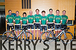 George Doyle, Mark Houlihan, Benny Cassidy, James White, John Brosnan, Chris Dunworth, John Mannix, Eddie Barry, Denis Dunworth, members of the newly launched Kingdom Endurance Sports Cycle Team at the Press launch in the Ballyroe Heights Hotel on Saturday
