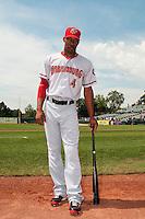 Harrisburg Senators outfielder Destin Hood (4) during game against the Trenton Thunder at ARM & HAMMER Park on July 31, 2013 in Trenton, NJ.  Harrisburg defeated Trenton 5-3.  (Tomasso DeRosa/Four Seam Images)