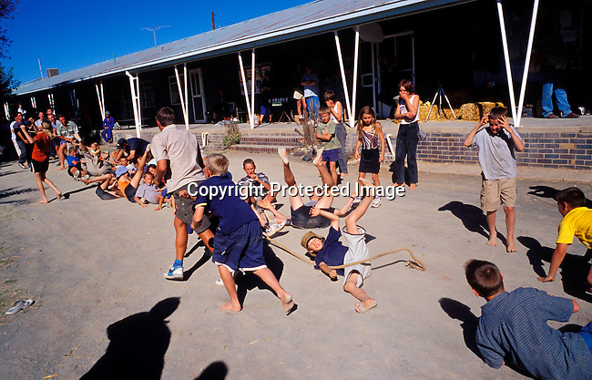 DIPOAFR00041.Culture Afrikaners Youths competing in a toutrek competition at the Orania Show, a yearly happening in this all white Afrikaner community in Northern Cape , South Africa..Photo: Per-Anders Pettersson/ iAfrika Photos