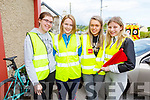 Megan Fitzgerald, Coleen Green, Cait O'Mahony and Marie Daly working hard behind the scenes at the Currow LGFA road cycle on Sunday.