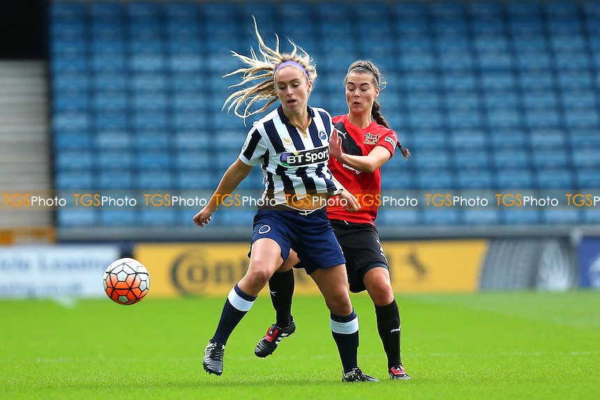 Amber Gaylor of Millwall in action during Millwall Lionesses vs Sheffield FC Ladies, FA Women's Super League FA WSL2 Football at The Den on 9th October 2016