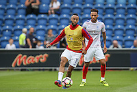 Nathan Redmond (Southampton) of England warms up before the International EURO U21 QUALIFYING - GROUP 9 match between England U21 and Norway U21 at the Weston Homes Community Stadium, Colchester, England on 6 September 2016. Photo by Andy Rowland / PRiME Media Images.